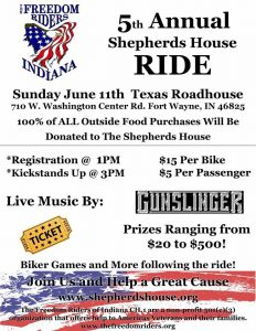 5th Annual Shepherds House Ride